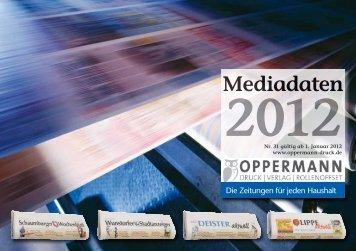 Anzeigenpreisliste herunterladen - Schaumburger Wochenblatt
