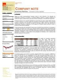 Jer%C3%B3nimo Martins - Investor's Day Update (Dezembro 2012)