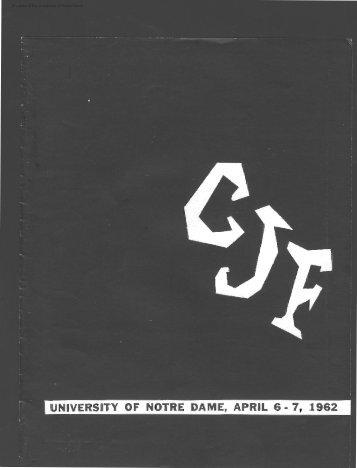 Notre Dame Collegiate Jazz Festival Program, 1962 - Archives ...
