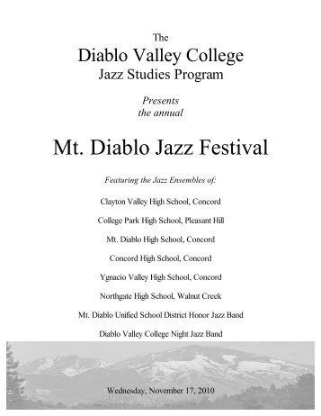 Mt. Diablo Jazz Festival - Clayton Valley Eagles Marching Band ...