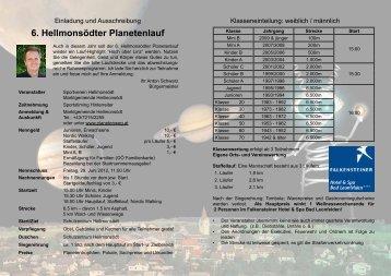6. Hellmonsödter Planetenlauf - Sportverein Hellmonsödt