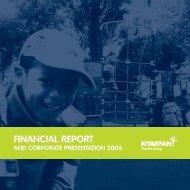 Financial RepoRt - Financial - Kompan A/S