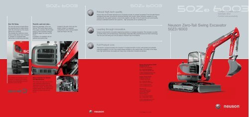 Neuson Zero-Tail Swing Excavator 50Z3/6003 - Chase Plant Hire