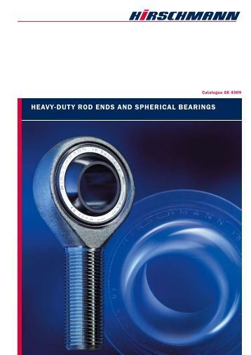 Heavy-duty Rod ends and spherical bearings from HIRsCHmAnn