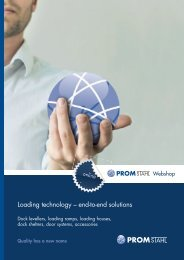 Loading technology – end-to-end solutions - PROMStahl GmbH