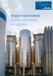 Oxygen Generation by Pressure Swing Adsorption - Linde-India
