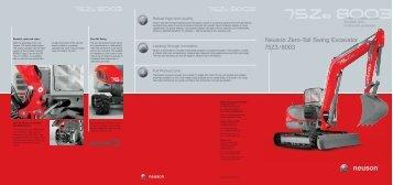 Neuson Zero-Tail Swing Excavator 75Z3/8003