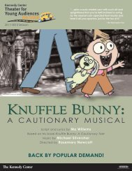 Knuffle Bunny: - The John F. Kennedy Center for the Performing Arts