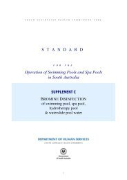 Standard for the Operation of Swimming Pools and Spa ... - SA Health