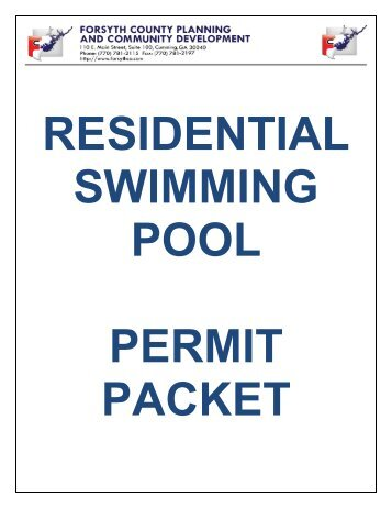 residential building permit checklist - Forsyth County Government