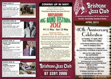 be-bop / Standards - Brisbane Jazz Club