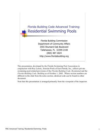 Residential Swimming Pool Safety Affirmation Orange County