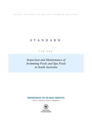 Standard for the Inspection and Maintenance of Swimming Pools ...
