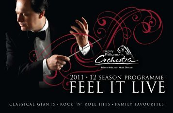 CPO Season Brochure 2011/2012 - The Calgary Philharmonic ...