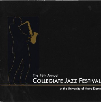 Notre Dame Collegiate Jazz Festival Program, 2006 - Archives ...