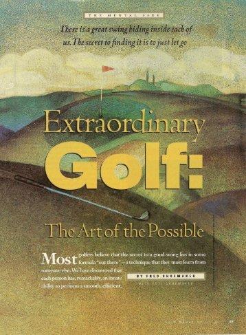 Extraordinary swing - Extraordinary Golf