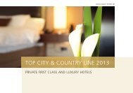 TOP CITY & COUNTRY LINE 2013 - TOP INTERNATIONAL Hotels