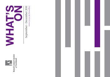 What's On Brochure - Royal Conservatoire of Scotland