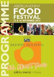Programme - Abergavenny Food Festival