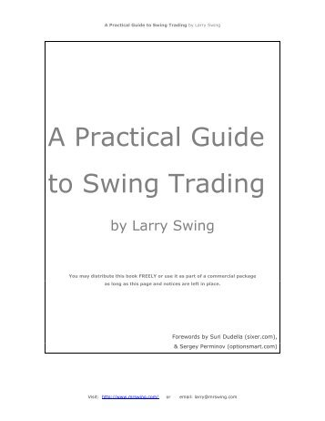 To all those who did not dedicate - The Swing Trading Guide