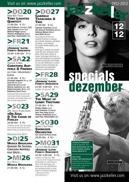 specials dezember - Jazzkeller