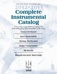 2012 Complete Instrumental Catalog - The FJH Music Company Inc.