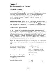 Chapter 7 The Conservation of Energy