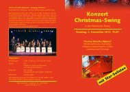 Download Flyer «Swinging Christmas - Thomas Biasotto Big Band