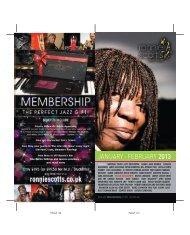 JANUARY - FEBRUARY 2013 - Ronnie Scott's Jazz Club