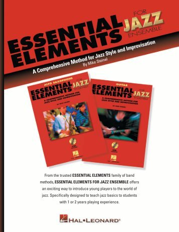 A Comprehensive Method for Jazz Style and ... - Hal Leonard