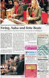 Swing, Salsa und fette Beats | 23.05.12 - Musikschule Holzminden e.V.