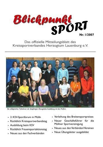 Ausgabe 1/2007 - Kreissportverband Herzogtum Lauenburg
