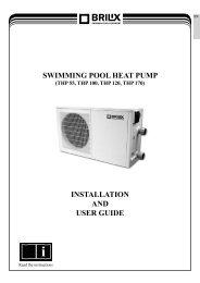 swimming pool heat pump installation and user guide - BRILIX.com