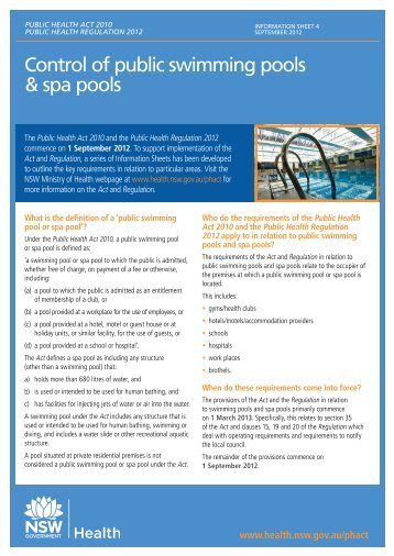 Chapter 64e 9 public swimming pools and bathing for Nsw government swimming pool register