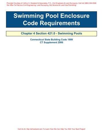 Pool Barrier Code - Arthur H. Howland & Associates, P.C.