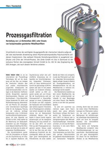 Prozessgasfiltration - Filtra Guide