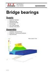 Bridge bearings - BT Bautechnik GmbH
