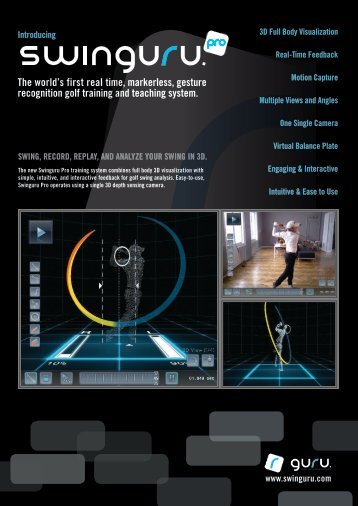 Swinguru Pro - Product sheet - guru training systems | golf swing ...