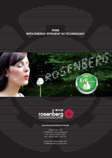 Fans with energy efficient EC technology - Rosenberg Ventilatoren ...