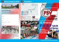 Flyer / 5. Fit & Fun Marathon am 01.12 - FSV Trier-Tarforst