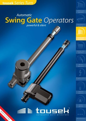 Swing Gate Operators Swing Gate Operators - TOUSEK