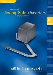 Swing Gate Operators Swing Gate Operators - Access Automation