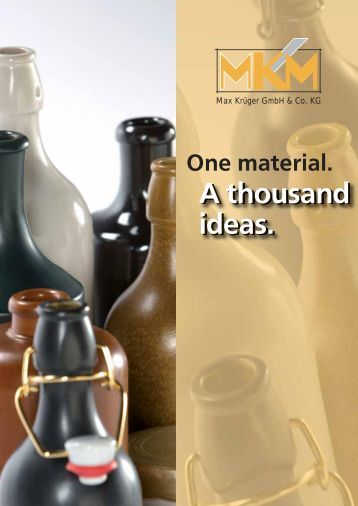 A thousand ideas. - MKM Max Krüger GmbH & Co KG