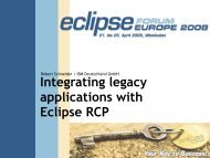 Integrating Legacy Applications With Eclipse RCP - JAX