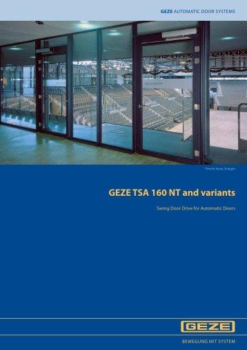 GEZE TSA 160 NT and variants - Járn og Gler