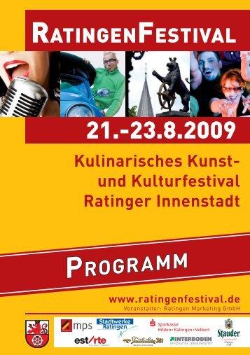 und Kulturfestival Ratinger Innenstadt www.ratingenfestival.de