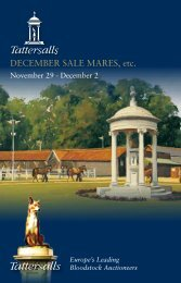 Tattersalls December Mare Sale 2010