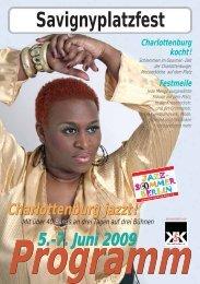 Savignyplatzfest Programm Charlottenburg jazzt! - Kiez und Kultur eV