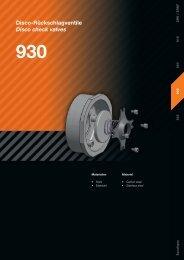 Disco-Rückschlagventile Disco check valves 930 - AWS Apparatebau