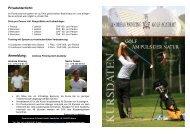 Privatunterricht: Anmeldung: - andreas prinzing - golf academy